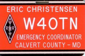 W4OTN Calvert County EC badge