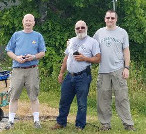 Picture of Ed KC3EN, Steve N3IPN, and Eric WG3K.
