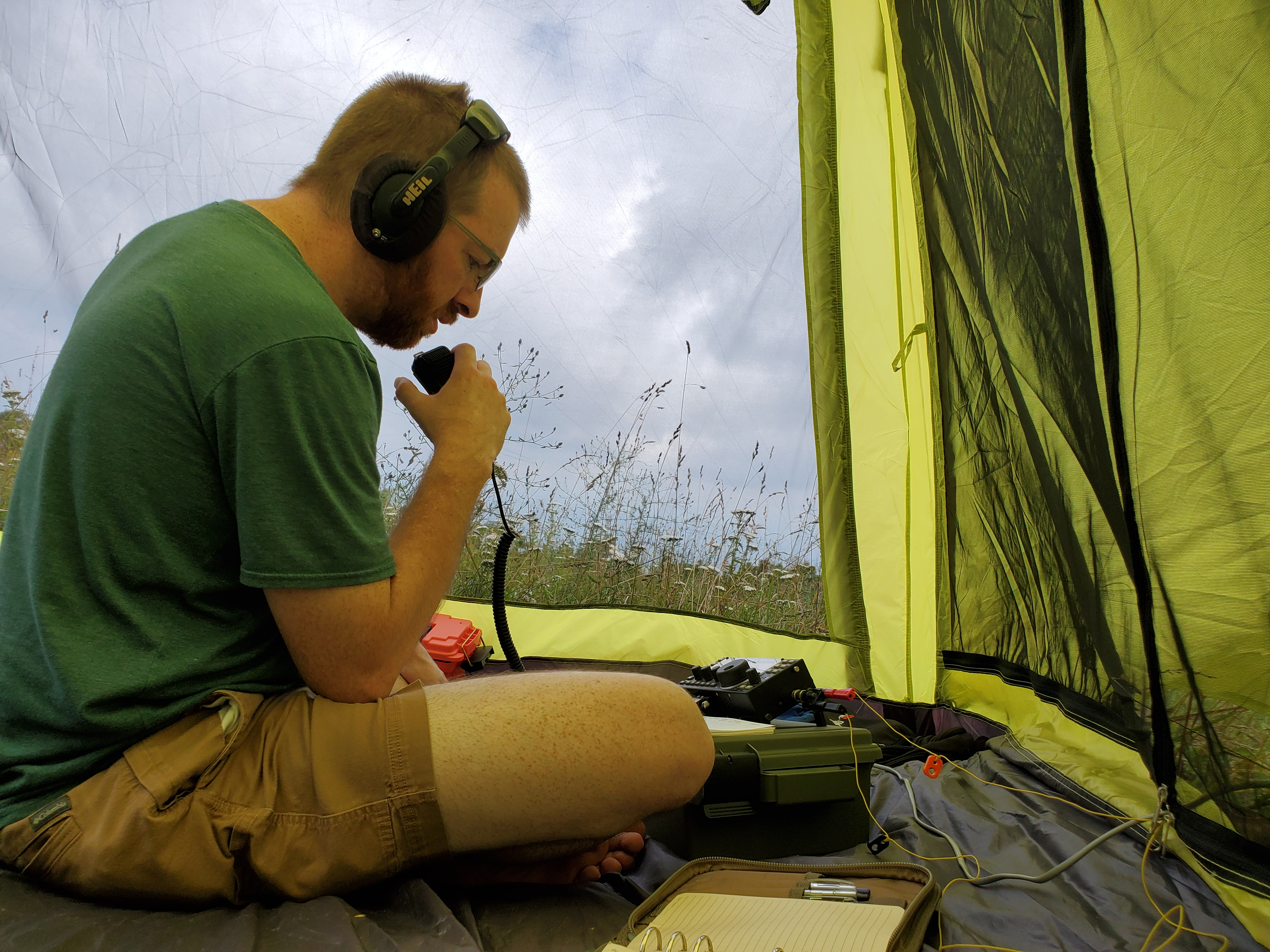 Eric operating HF at Apple Orchard Mountain